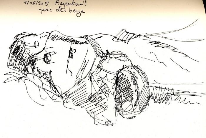sieste au parc des berges à Argenteuil
